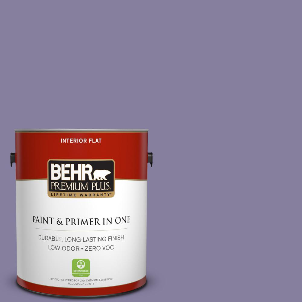 BEHR Premium Plus 1-gal. #S570-5 Live Jazz Flat Interior Paint, Purples/Lavenders