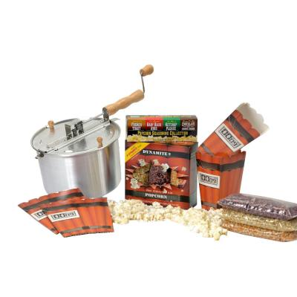 3-Piece Aluminum Popcorn Popper Set