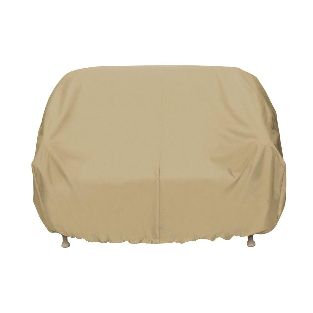 Two Dogs Designs Patio Loveseat Cover In Khaki