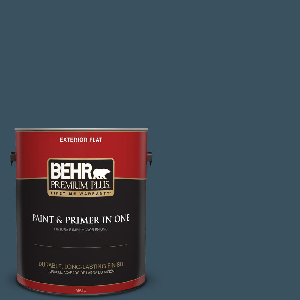 1 gal. #PPU13-20 Restless Sea Flat Exterior Paint