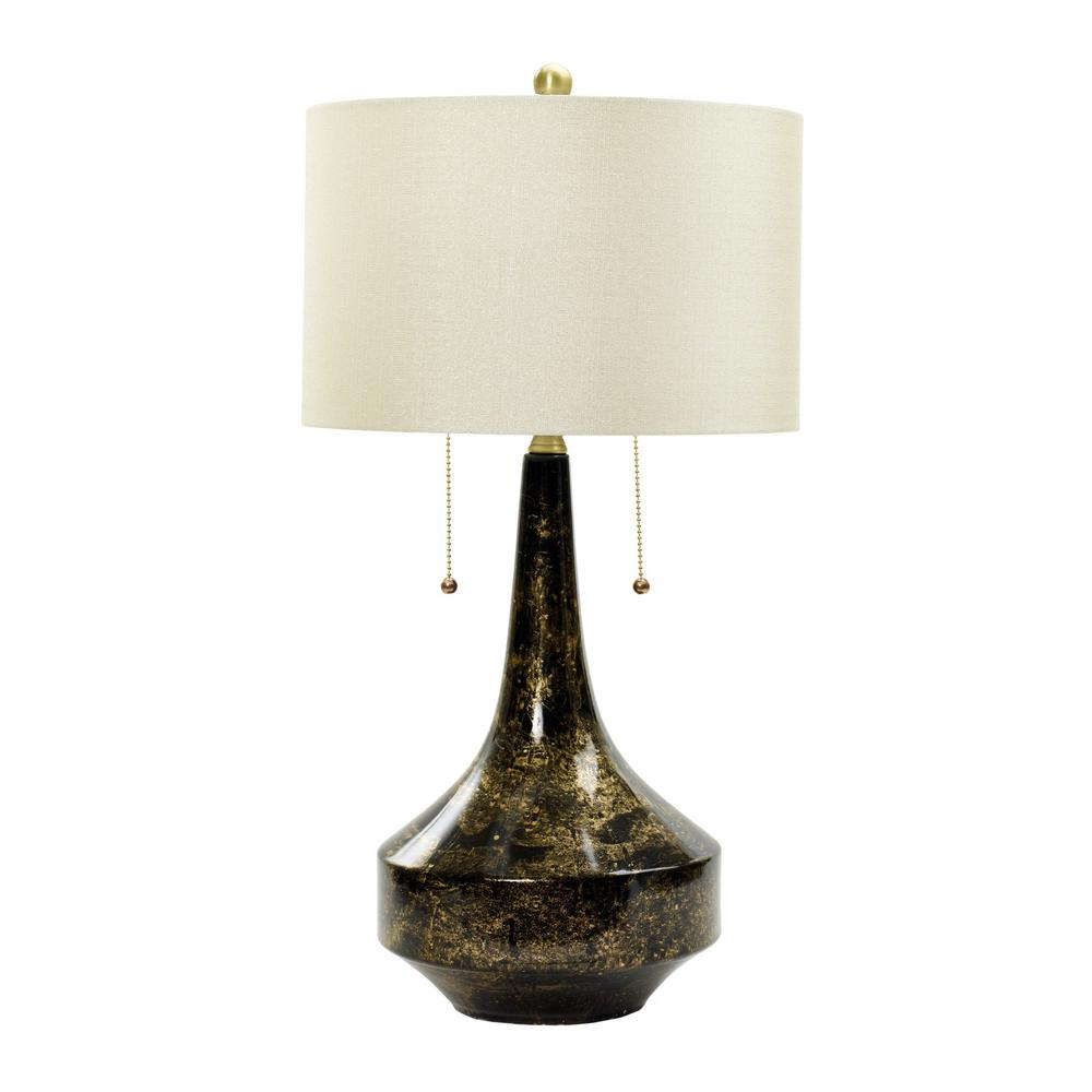 Attractive Floating Gold On Black Ceramic Table Lamp