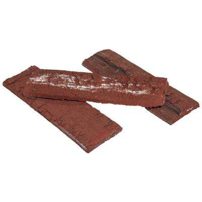 8 in. x 2.25 in. x 0.44 in. Concrete Burnt Sienna Thin Brick Veneer