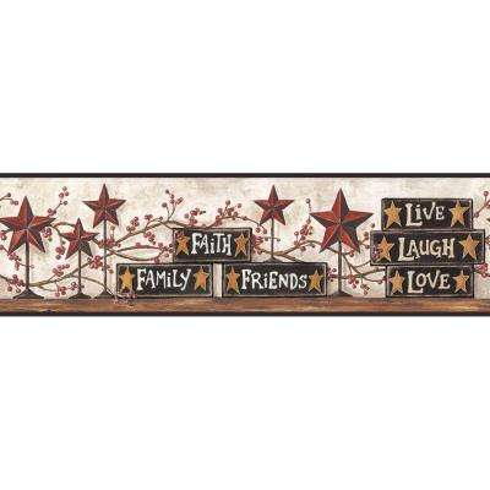 Stars & Blocks on Shelf Wallpaper Border