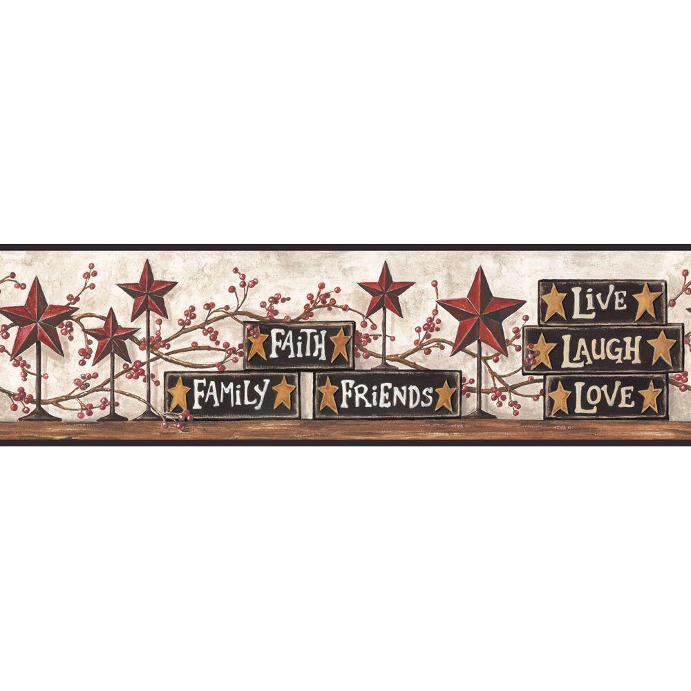 Stars and Blocks on Shelf Wallpaper Border