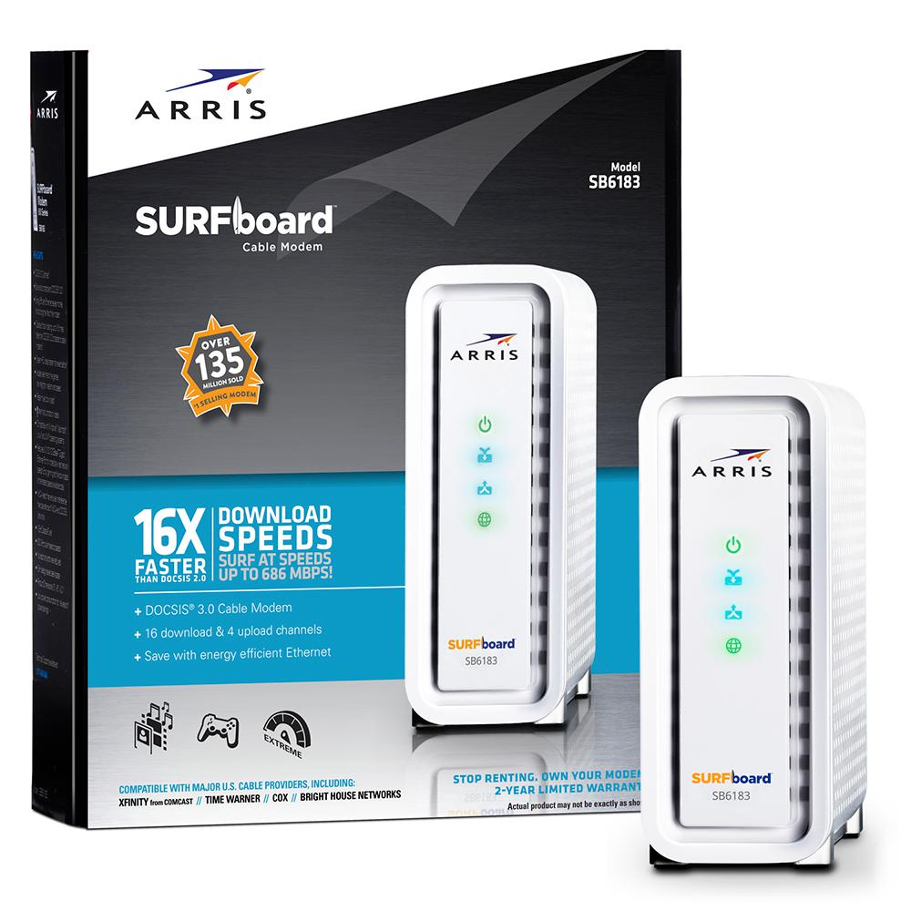 SURFboard Docsis 3.0 Cable Modem SB6183, White