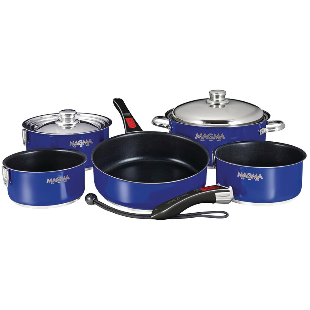 Ceramica Non-Stick 10-Piece Induction Compatible Nesting Cookware Set in Cobalt