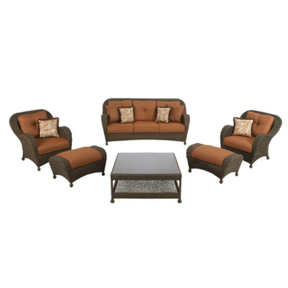 Martha Stewart Living Palm Cove Collection 6-Piece Patio Seating Set-DISCONTINUED