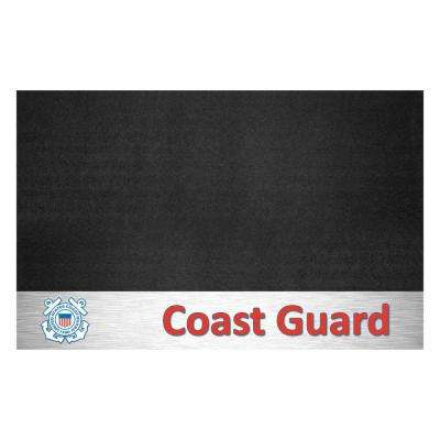 MIL - U.S. Coast Guard 42 in. x 26 in. Vinyl Grill Mat