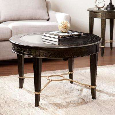 Moria Goldwashed Black Cocktail Table
