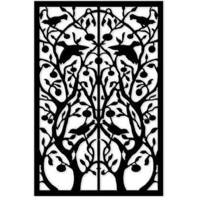 1/4 in. x 32 in. x 4 ft. Black Tree of Life Vinyl Decor Panel