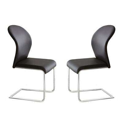 Tayside Black Side Chairs (Set of 2)