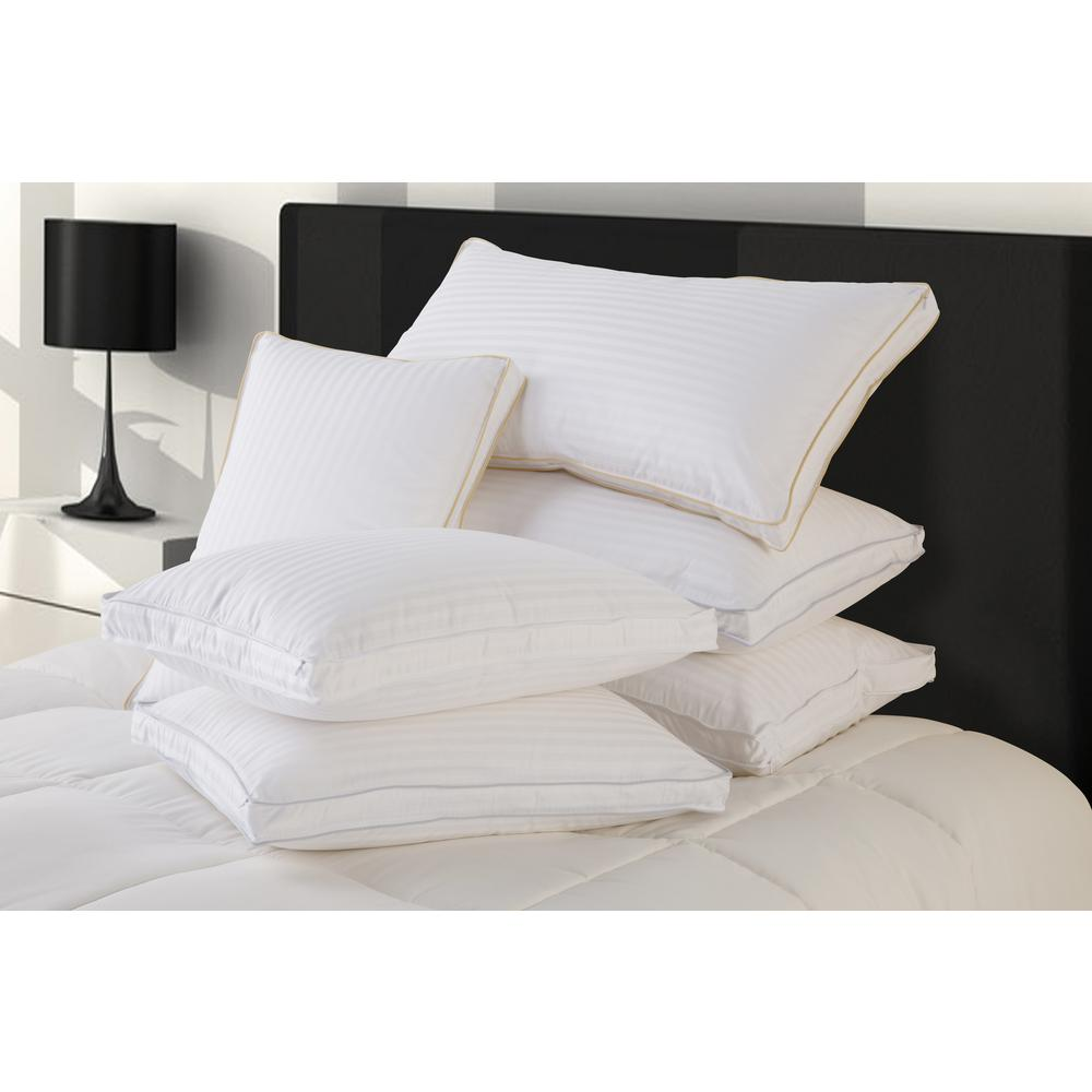 Hyper Down Medium Down Blend King Size Pillows with Protector (Set