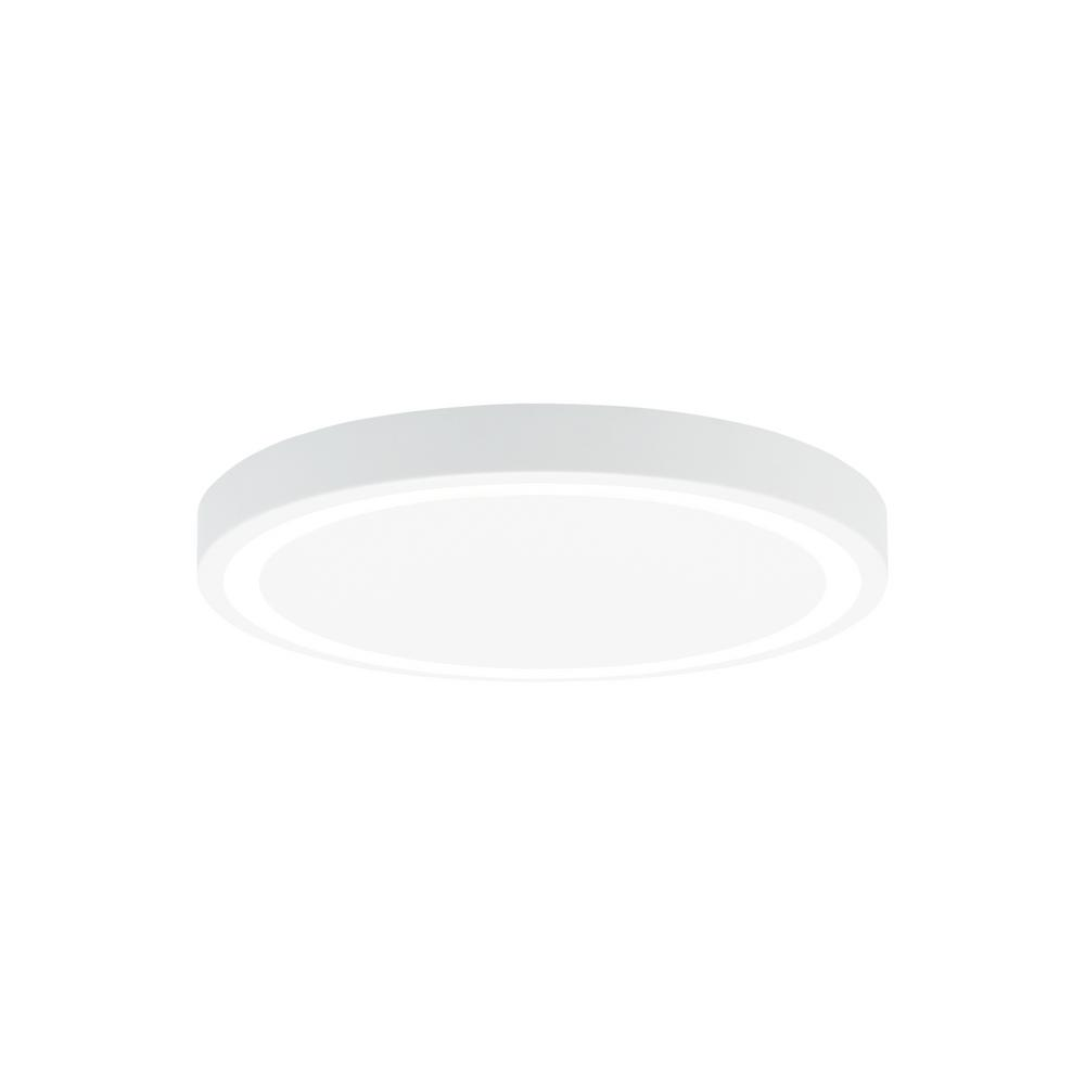 Crest 12 32-Watt White Integrated LED Flush mount