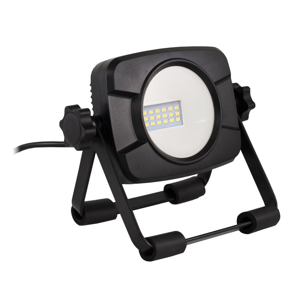 Stalwart Large 60 Led Rechargeable Work Light: PowerSmith 60-Watt (6000 Lumens) LED Dual-Head Work Light