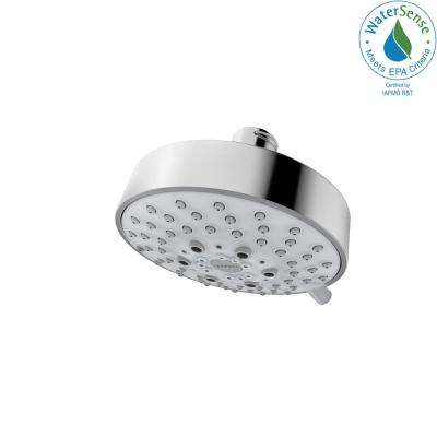 Modern 5-Spray 4 in. Round Showerhead 1.75 GPM in Polished Chrome