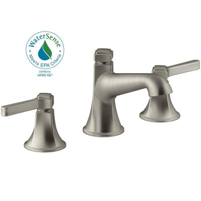 Georgeson 8 in. Widespread 2-Handle Bathroom Faucet with Drain in Vibrant Brushed Nickel