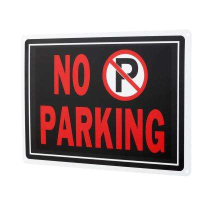 10 in. x 14 in. Aluminum No Parking Sign
