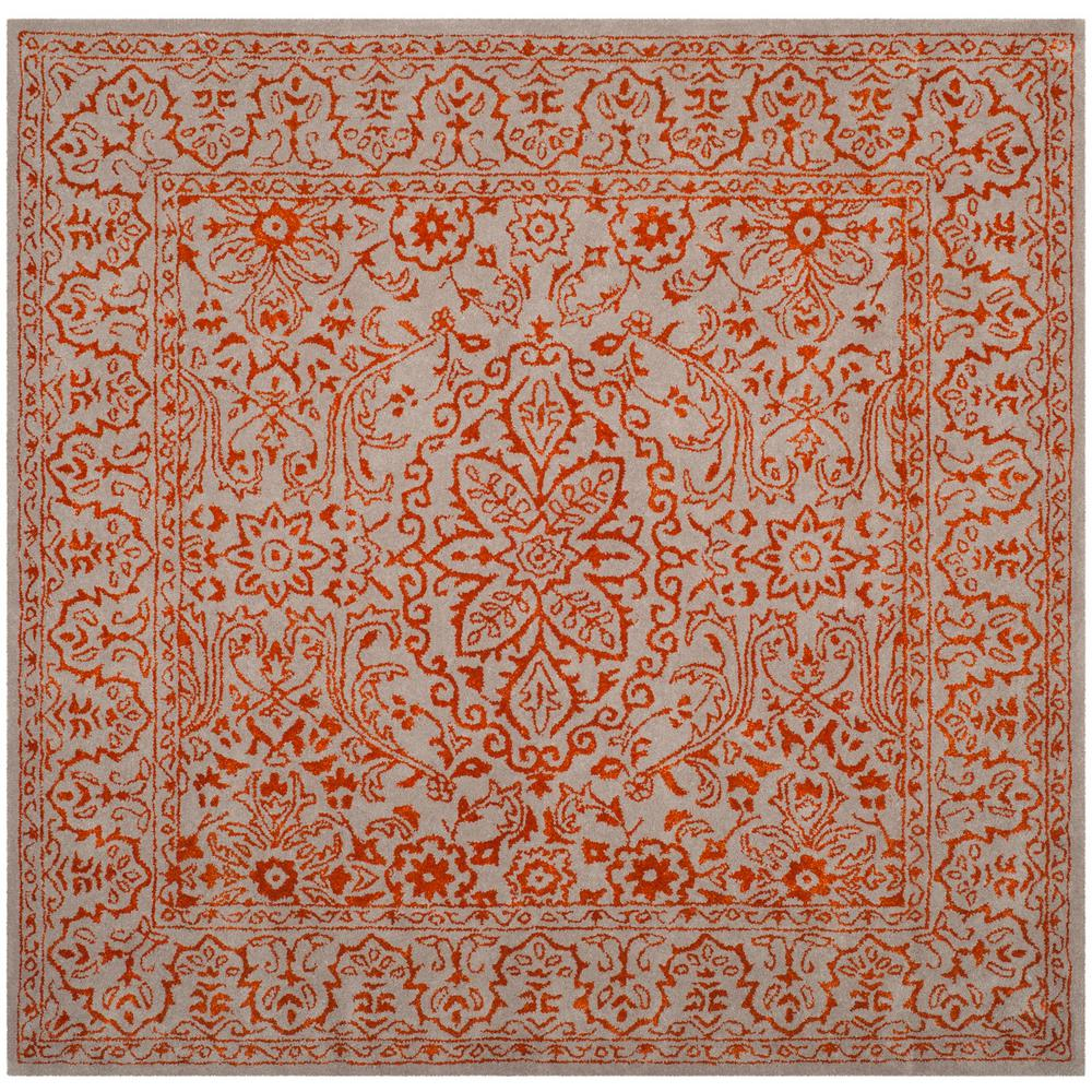 Safavieh Glamour Gray/Rust 6 ft  x 6 ft  Square Area Rug