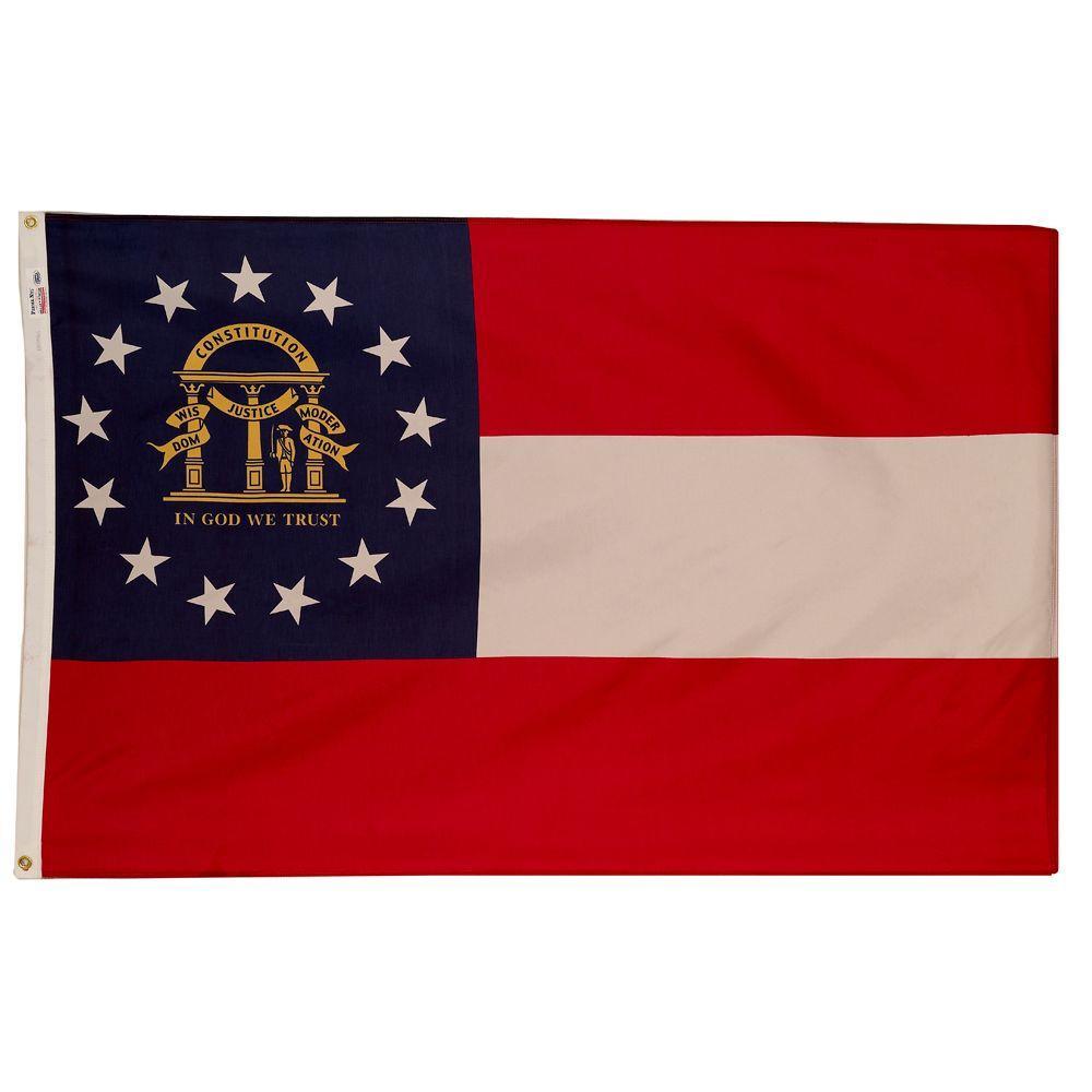 3 ft. x 5 ft. Nylon Georgia State Flag