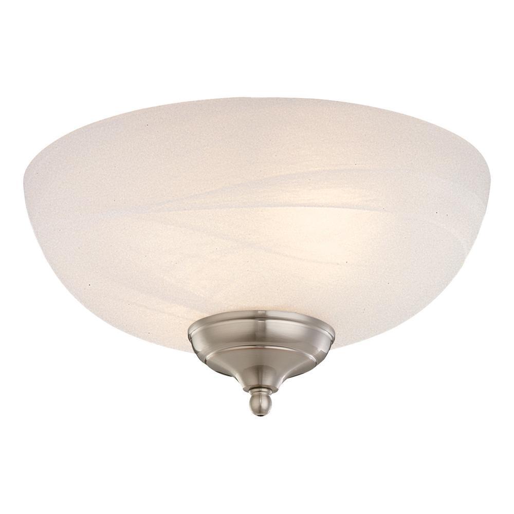Monte Carlo 3 Light White Faux Alabaster Ceiling Fan Kit