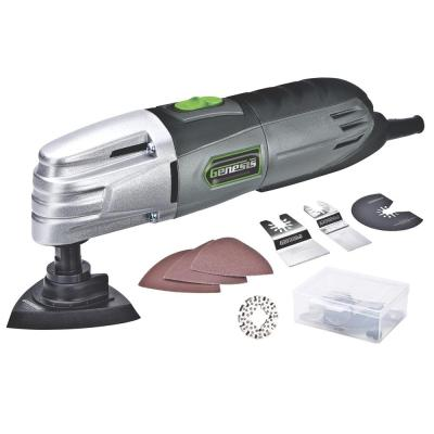 1.5 Amp Multi-Purpose Oscillating Tool and 19-Piece Universal Hook-And-Loop Accessory Set with Storage Box