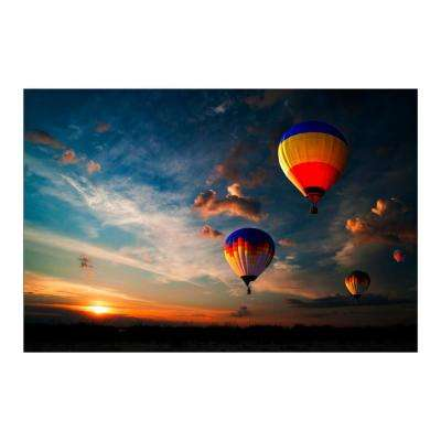 "47 in. x 32 in. ""Endless Sky"" Tempered Glass Wall Art"
