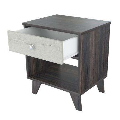 Tobacco Brown and Cream Nightstand