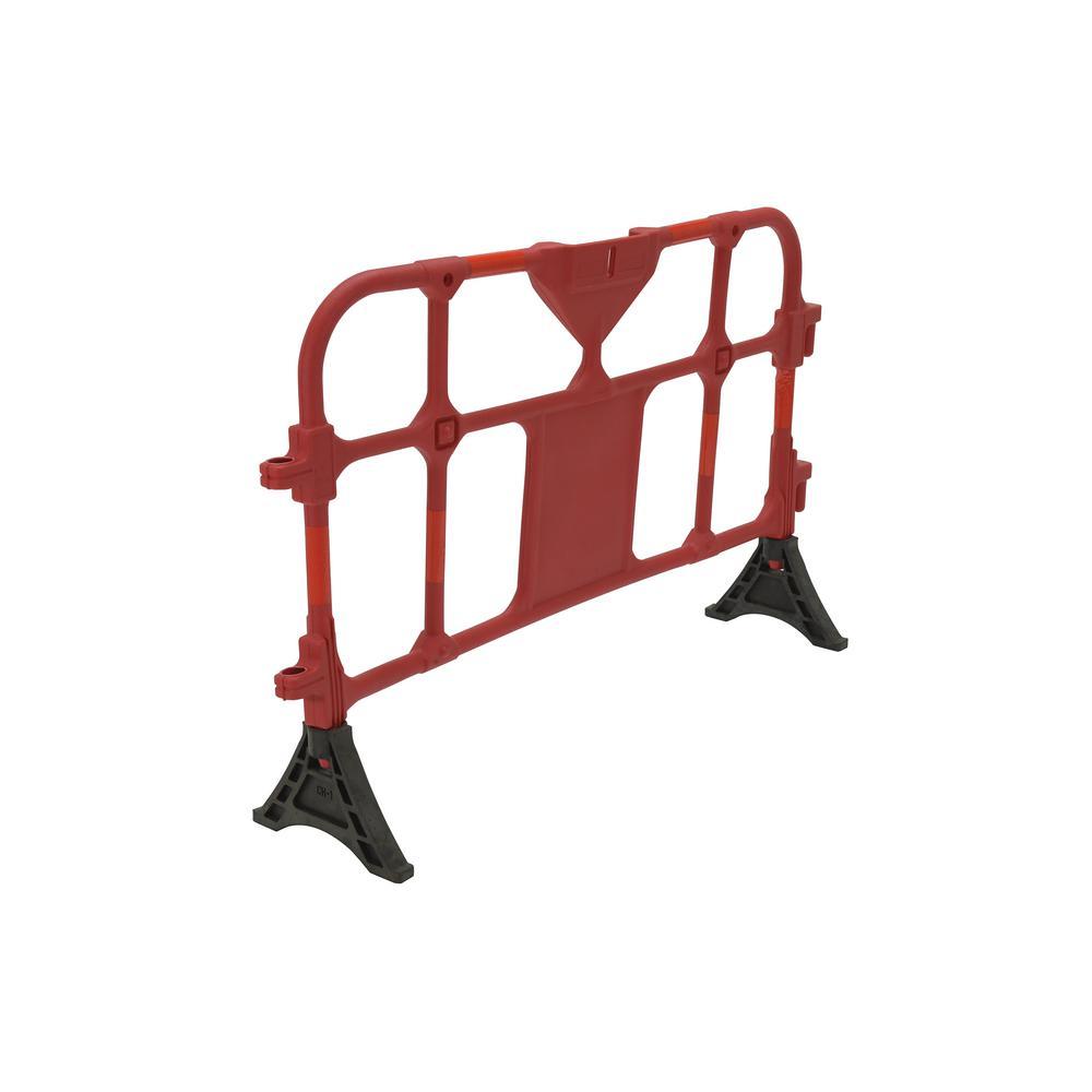 59 in. x 40 in. x 3 in. Red Plastic Handrail Barrier