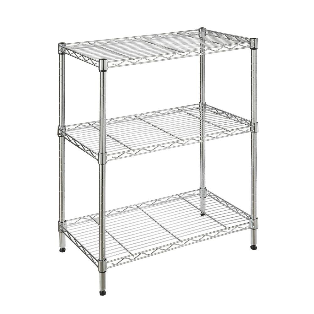 metal storage shelves. hdx 3-shelf 23.3 in. w x 13.3 in l 30.3 h metal storage shelves p