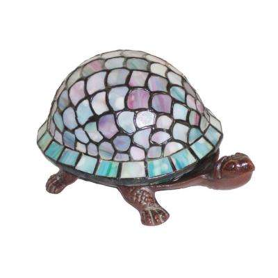 4 in. Turtle Brown/Blue Accent Lamp