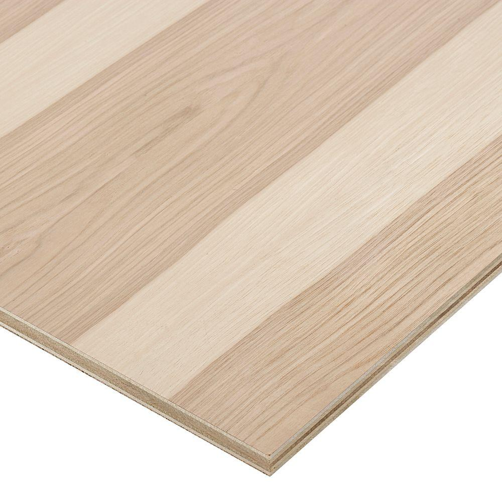 Columbia Forest Products 3/4 in. x 2 ft. x 2 ft. PureBond Hickory Plywood Project Panel (Free Custom Cut Available)