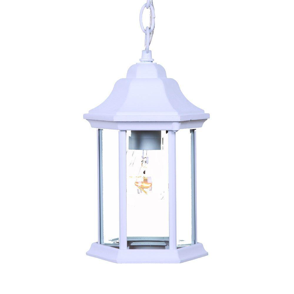 Acclaim Lighting Madison Collection Hanging Outdoor 1-Light Textured White Lantern