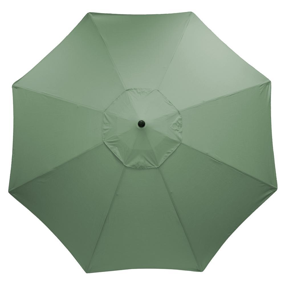 11 ft. Aluminum Market Patio Umbrella in CushionGuard Surplus