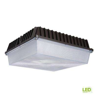 56-Watt Bronze Outdoor Integrated LED Area Canopy Light with 7,229 Lumens in Cool White