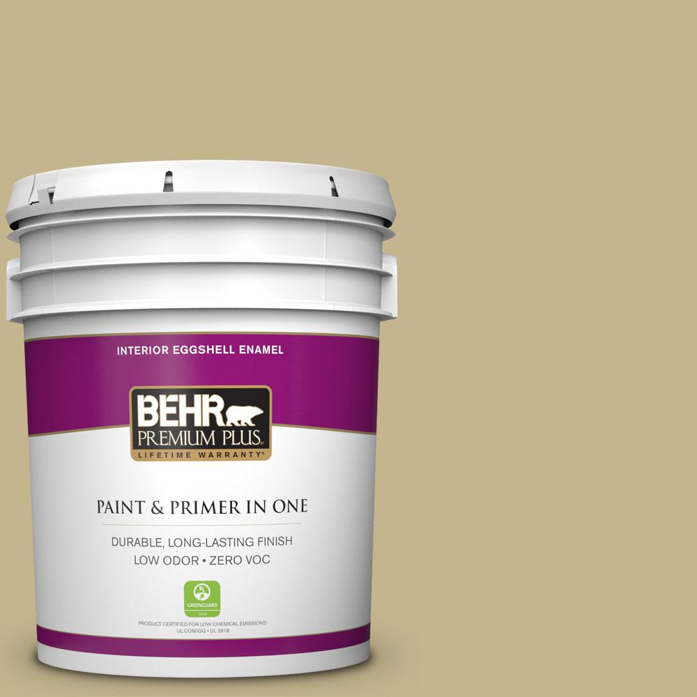 BEHR Premium Plus 5-gal. #BIC-27 Modish Moss Eggshell Enamel Interior Paint