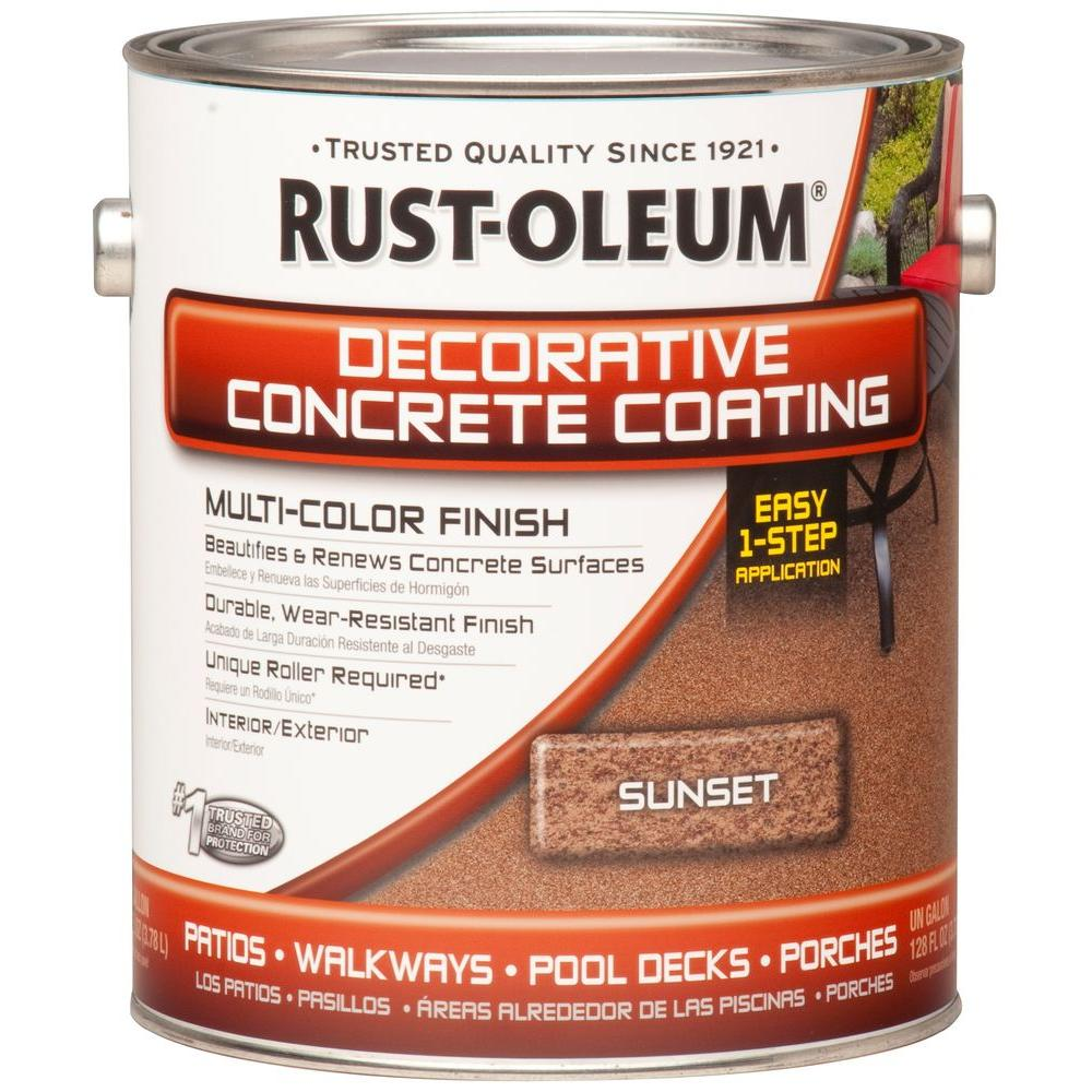 Rust Oleum Concrete Stain 1 Gal Sunset Decorative