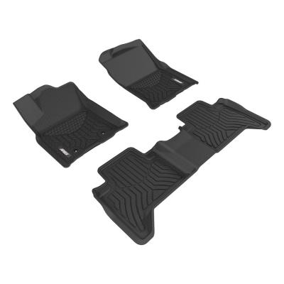 ARIES FR07011809 StyleGuard XD Black Custom Truck Floor Liners for Ford F-250 F-450 Super Duty 1st Row Only F-350