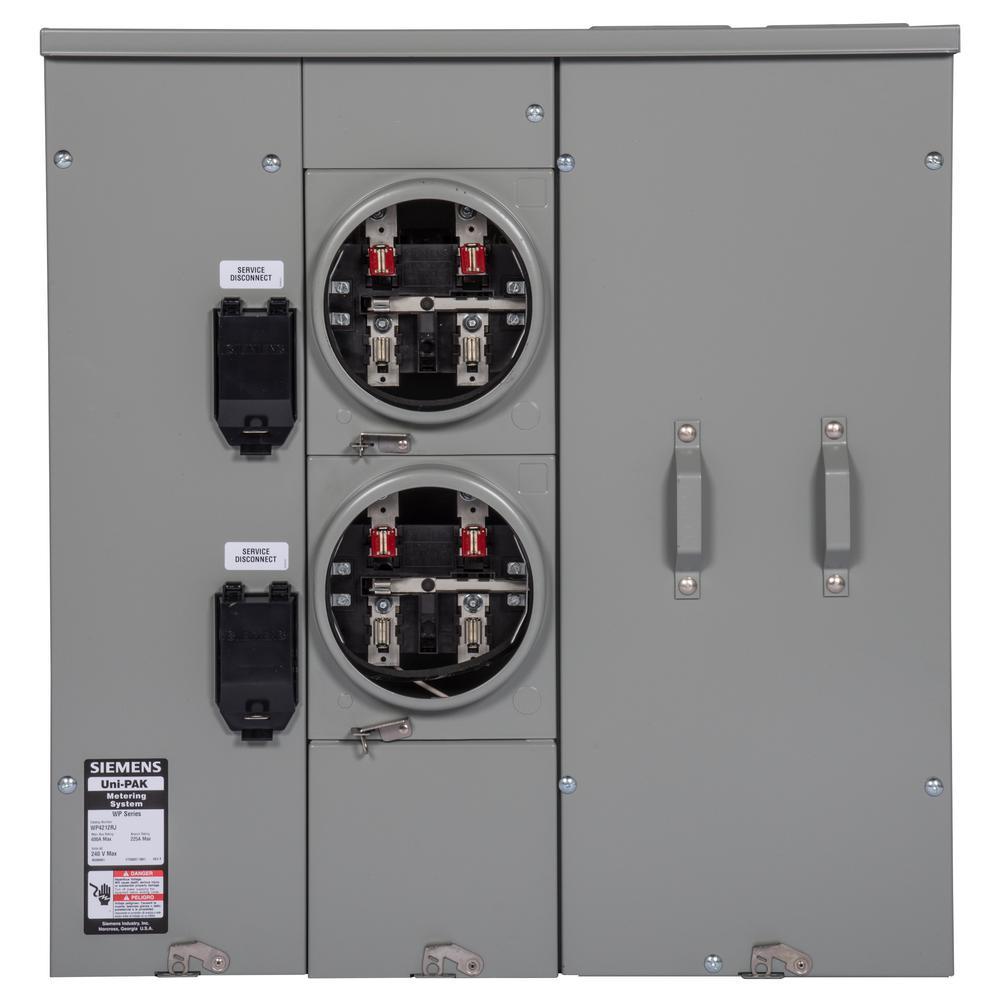 Uni-PAK 2-Gang 400 Amp Ring Style 100kA Multi-Family Metering