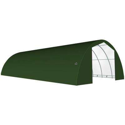 30 ft. W x 40 ft. D x 15 ft. H Galvanized Steel and PVC Garage Without Floor in Green with Heavy-Duty Green Cover