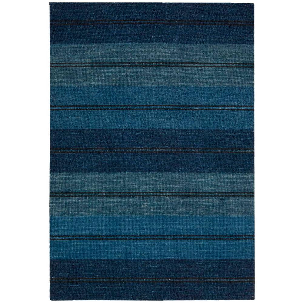 Nourison Overstock Oxford Mediterranean Stripe 7 ft. 9 in. x 10 ft. 10 in. Area Rug
