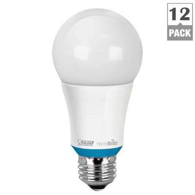 60W Equivalent Soft White (2700K) A19 Dimmable HomeBrite Bluetooth Smart LED Light Bulb (Case of 12)