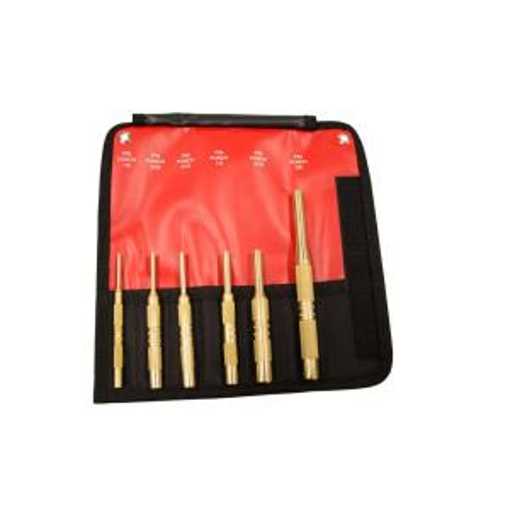 Mayhew Brass Pin Punch Set (6-Piece) by Mayhew