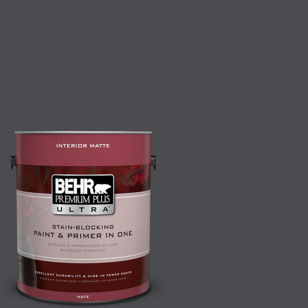 BEHR Premium Plus Ultra 1 gal. #N500-7 Night Club Matte Interior Paint