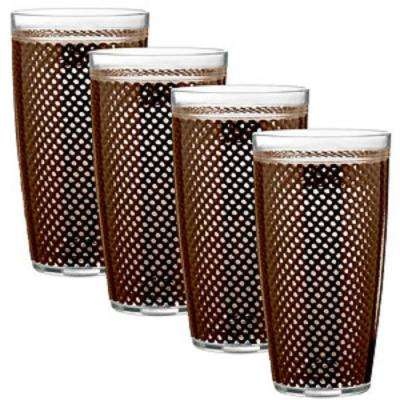 Fishnet 22 oz. Chocolate Insulated Drinkware (Set of 4)