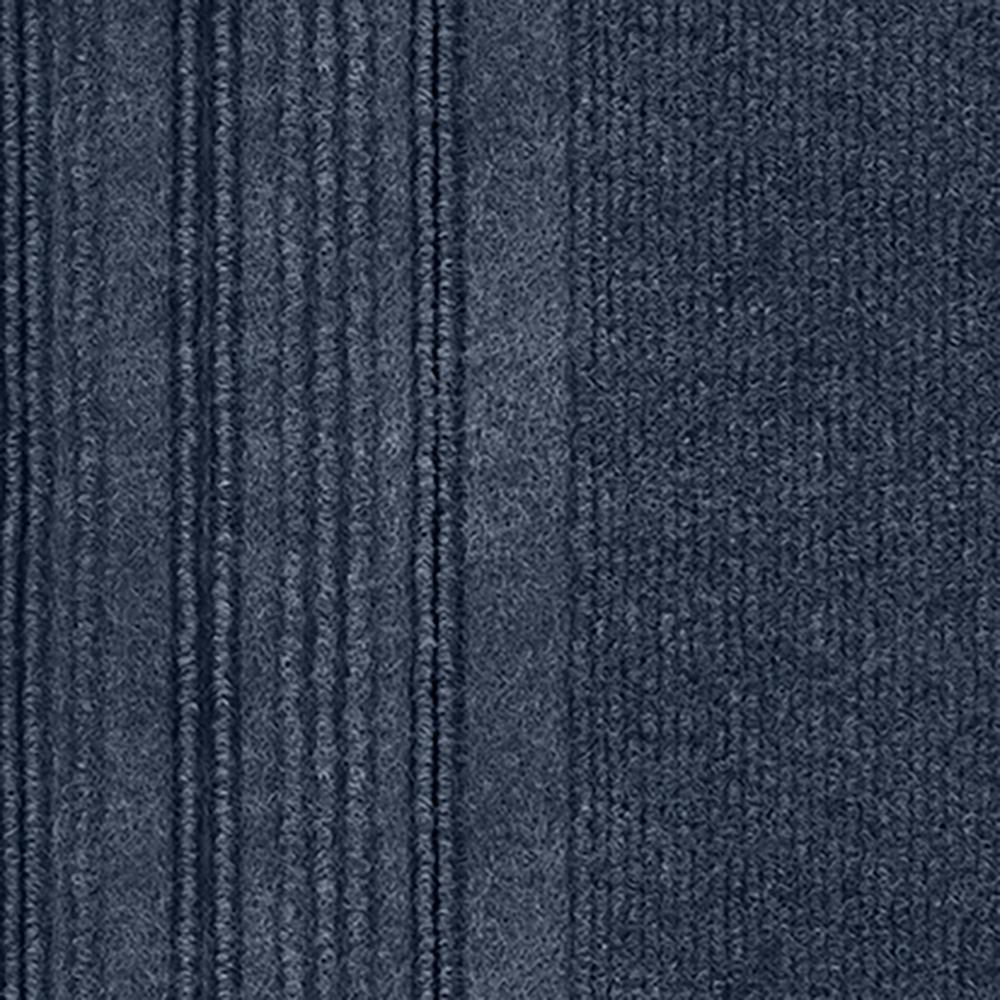 First Impressions Barcode Rib Ocean Blue Texture 24 in. x 24