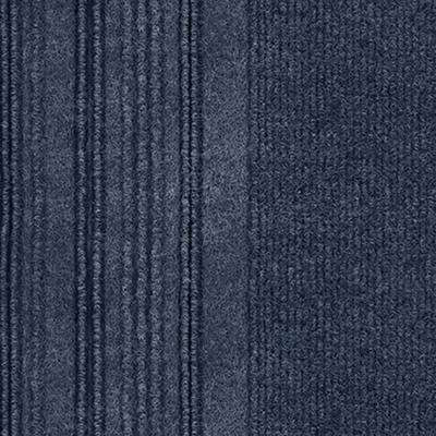 First Impressions Barcode Rib Ocean Blue Texture 24 In X Carpet Tile