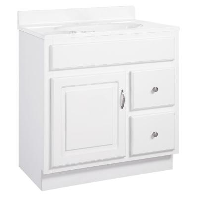 Concord RTA 30 in. W x 21 in. D Bath Vanity Cabinet Only in White Gloss