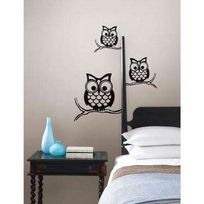 Black Give A Hoot Wall Decal