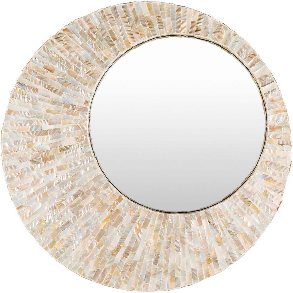 Elyza 31 in. x 31 in. MDF Framed Mirror