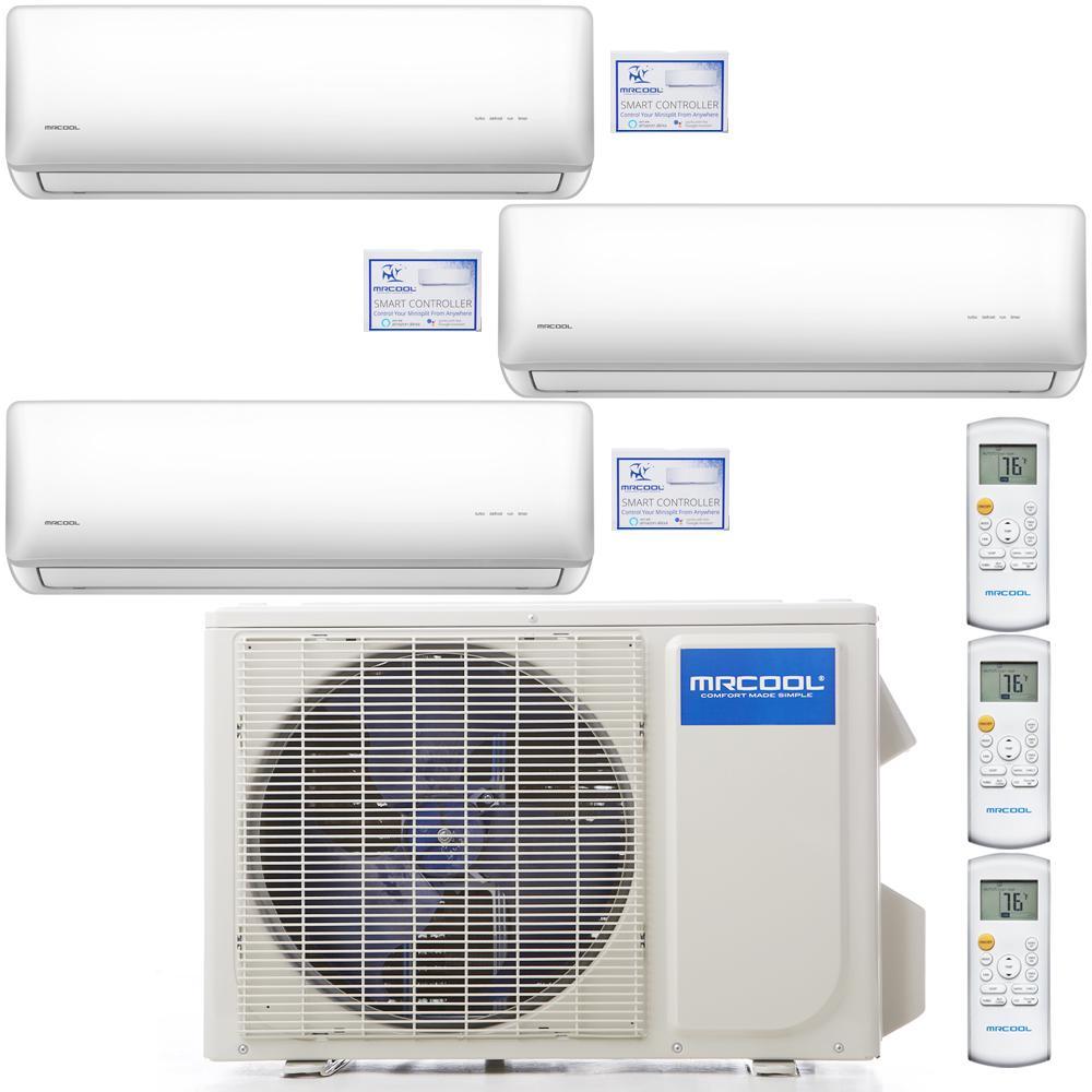 Olympus 27000 BTU 2.25 Ton 3-Zone Ductless Mini-Split Air Conditioner and Heat Pump w/ 25 ft. Install Kit, 230-Volt/60Hz